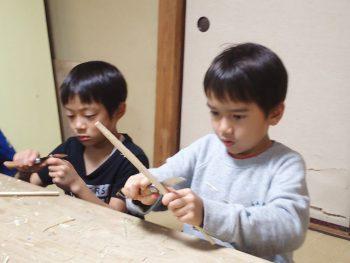 TIDE POOL 「木曜日」ナイフ2回目!今度は竹を削って箸を作ろう!
