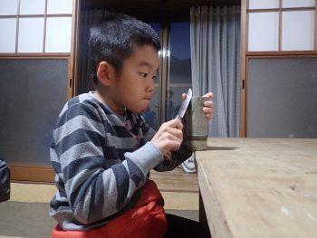「しぜん」ナイフ4回目!!