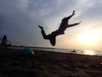 ダイヤモンド富士と夕日と海そしてTIDE POOL