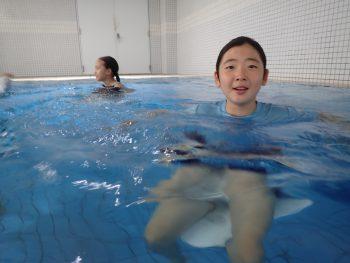 水中バランスと浮力の事を知る